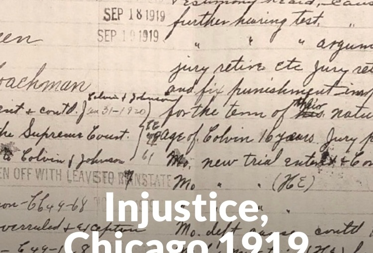 Law & Justice during Chicago's 1919 Race Riots